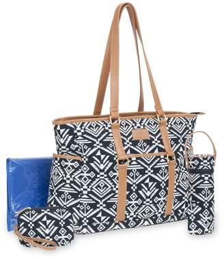 Carter's Studio Tote Set Aztec Jacquard Diaper Bag