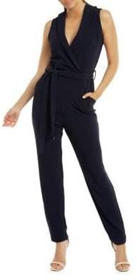 Dex Sleeveless Wrap Self Sash Jumpsuit