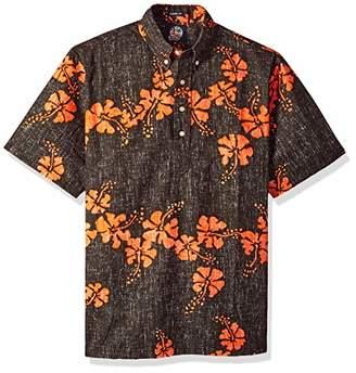 Reyn Spooner Men's 50th State Flower Spooner Kloth Classic Fit Pullover Shirt