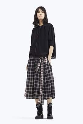 CONTEMPORARY Plaid Belt Skirt