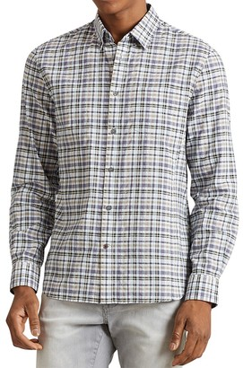 John Varvatos Star USA Mitchell Plaid Slim Fit Button-Down Shirt $148 thestylecure.com