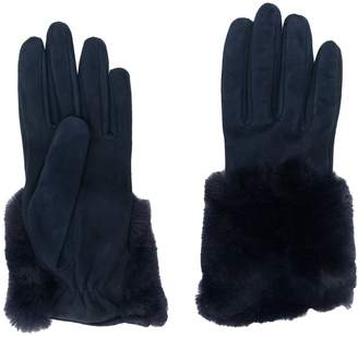 Gala Gloves faux fur trim gloves