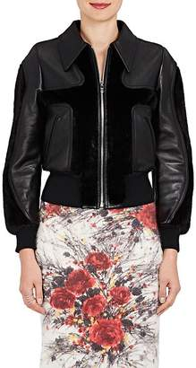 Prada Women's Leather & Mink Fur Jacket