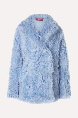 Pippa Sies Marjan Shearling Coat - Light blue