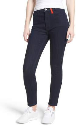 Current\u002FElliott The Ultra High Waist Skinny Jeans (Turley with Color Blocking)