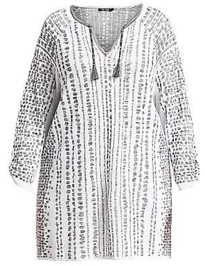 NIC + ZOE, Plus Size NIC + ZOE, Plus Size Women's Natural Instinct Jacquard Top