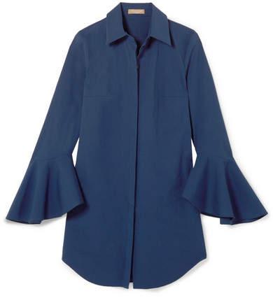 Michael Kors Collection - Cotton-blend Poplin Shirt - Blue