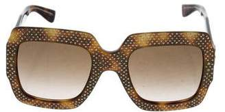 Gucci 2017 Crystal-Embellished Square Sunglasses w/ Tags