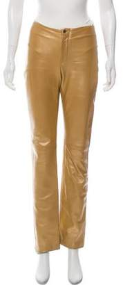 Equipment Leather High-Rise Pants