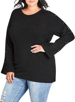 City Chic Plus Bar Bell Sweater