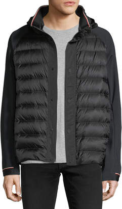 Moncler Gardon Down Jacket with Techno Sleeves