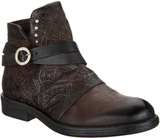 Miz Mooz Leather Strap Ankle Boots - Pixie