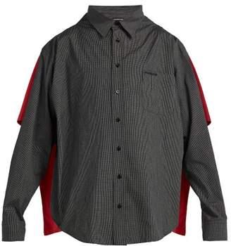 Balenciaga Double Layered Convertible Shirt - Mens - Black