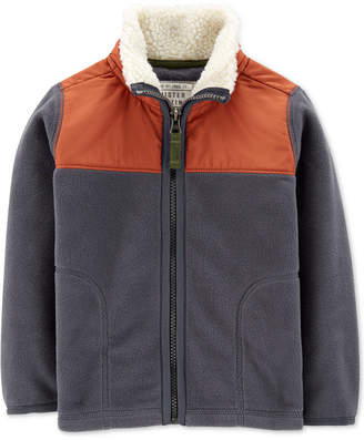 Carter's Toddler Boys Jacket with Fleece-Lined Collar