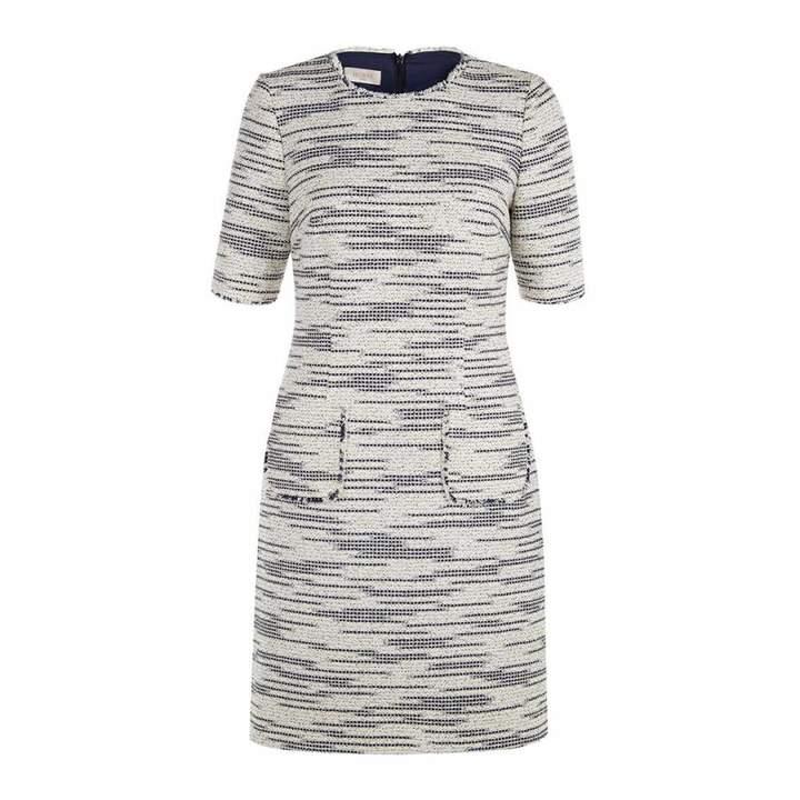 Ivory/Navy Isobella Tweed Dress