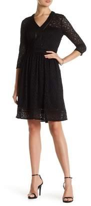 Cynthia Steffe Lynn Long Sleeve V-Neck Lace Dress