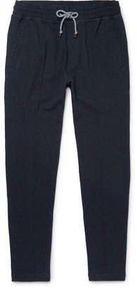 Brunello Cucinelli Slim-Fit Tapered Fleece-Back Cotton-Blend Jersey Sweatpants