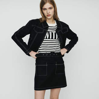 Maje Cropped jacket with stitched detailing