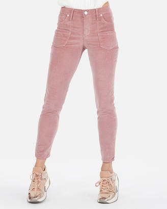 Express Mid Rise Corduroy Front Patch Pocket Ankle Leggings