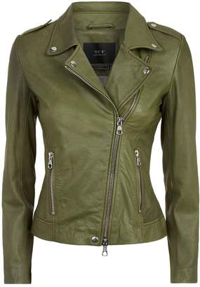 SET Leather Biker Jacket