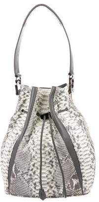 Khirma Eliazov Celine Python & Leather Bucket Bag