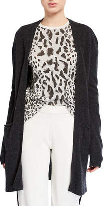 ATM Anthony Thomas Melillo Two-Pocket Open-Front Mid-Length Cashmere Cardigan