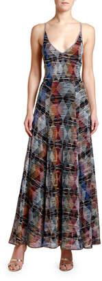 Missoni Sleeveless Argyle Metallic Maxi Dress