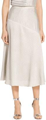 St. John Narrow Stripe Twill Skirt