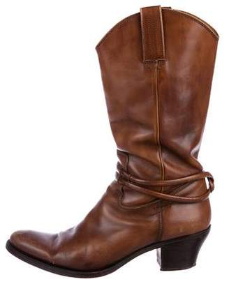 Gucci Leather Cowboy Boots