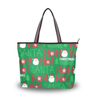62232bc471 La Random Christmas Santa Ho Laughter Tote Top Handle Shoulder Bags Large  Handbags for Women Ladies
