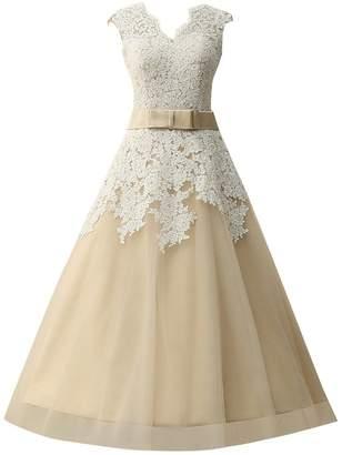 JAEDEN Vintage Lace Wedding Dresses Ball Gown Bridal Dress with Sash
