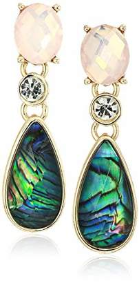Anne Klein Women's Gold Tone Drop Earrings with Stone