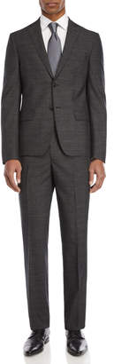 DKNY Two-Piece Grey & Black Pin Dot Wool Suit