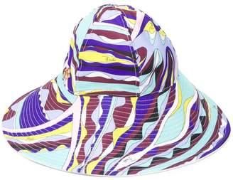 Emilio Pucci Burle Print Wide Brim Hat