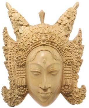 Legong Keraton Dancer Fair Trade Cultural Wood Mask