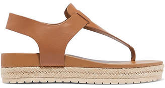 Vince Flint Leather Espadrille Platform Sandals - Tan