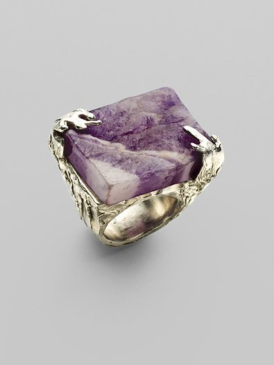 Yves Saint Laurent Amethyst Ring