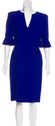 Alexander McQueen Bell Sleeve Midi Dress