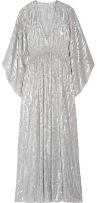 Elizabeth and James Raquel Metallic Fil Coupé Silk-blend Maxi Dress