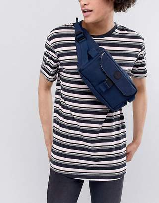 Esprit Nylon Bumbag with Multi Pockets In Navy