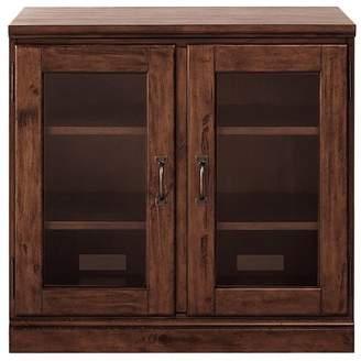 Pottery Barn Printer's Double Glass Door Cabinet