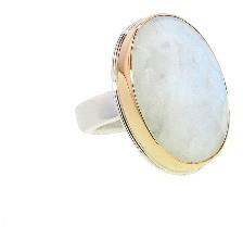 Jamie Joseph Oval Rose Cut Rainbow Moonstone Ring