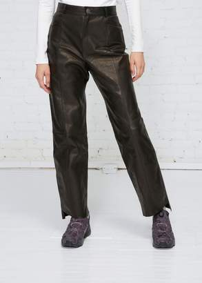 Vetements Leather Biker Pant