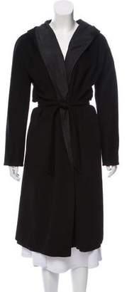 Max Mara 'S Hooded Open Front Coat
