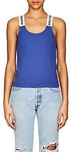 Paco Rabanne Women's Logo Stretch-Jersey Tank - Blue
