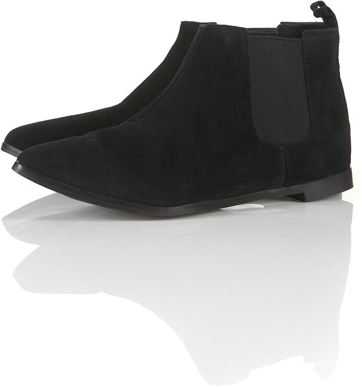 Topshop MINX Pointed Chelsea Boots