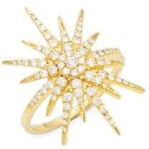 Artisan 18K Yellow Gold & Diamond Starburst Ring