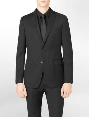 Calvin Klein body slim fit black stripe suit jacket