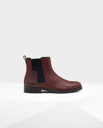 Hunter Men's Original Refined Leather Chelsea Boots
