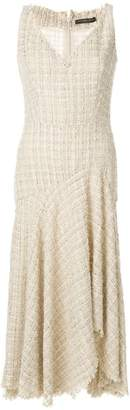 Alexander McQueen lurex detail asymmetric dress